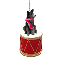 Australian Cattle BlueDog Drum Ornament