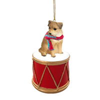 Border Terrier Drum Ornament