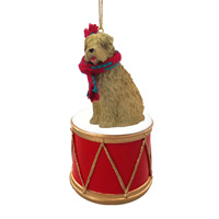 Soft Coated Wheaten Terrier Drum Ornament