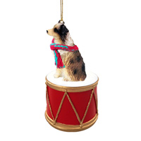 Australian Shepherd Brown w/Docked Tail Drum Ornament
