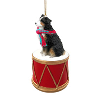 Australian Shepherd Tricolor w/Docked Tail Drum Ornament