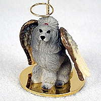 Poodle Gray Pet Angel Ornament