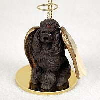 Poodle Chocolate Pet Angel Ornament