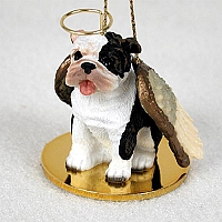 Bulldog Brindle Pet Angel Ornament