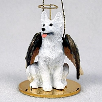 German Shepherd White Pet Angel Ornament