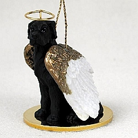 Great Dane Black w/Uncropped Ears Pet Angel Ornament