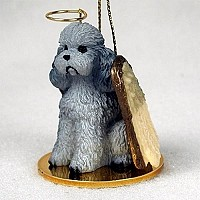 Poodle Gray w/Sport Cut Pet Angel Ornament