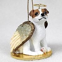 Jack Russell Terrier Brown & White w/Smooth Coat Pet Angel Ornament