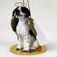 Pointer Black & White Pet Angel Ornament