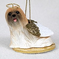 Lhasa Apso Brown Pet Angel Ornament