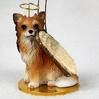 Chihuahua Longhaired Pet Angel Ornament