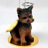 Yorkshire Terrier Puppy Cut Pet Angel Ornament