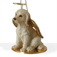 Labradoodle Cream Pet Angel Ornament