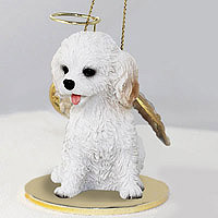 Cockapoo White Pet Angel Ornament