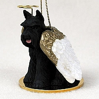 Schnauzer Black Pet Angel Ornament