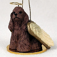 Cocker Spaniel Brown Pet Angel Ornament