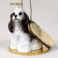 Cocker Spaniel Brown & White Pet Angel Ornament