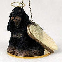 Cocker Spaniel Black & Tan Pet Angel Ornament