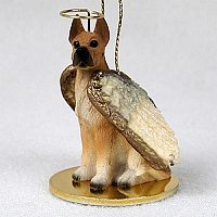Great Dane Fawn Pet Angel Ornament