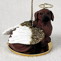 Dachshund Red Pet Angel Ornament
