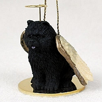 Chow Black Pet Angel Ornament
