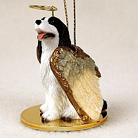 Springer Spaniel Liver & White Pet Angel Ornament