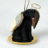 Labrador Retriever Black Pet Angel Ornament
