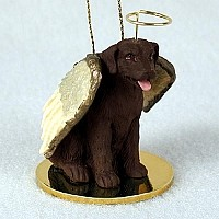 Labrador Retriever Chocolate Pet Angel Ornament