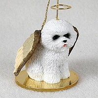 Bichon Frise Pet Angel Ornament