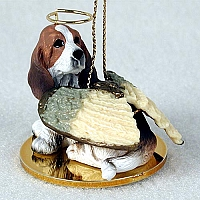 Basset Hound Pet Angel Ornament