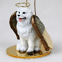 Samoyed Pet Angel Ornament