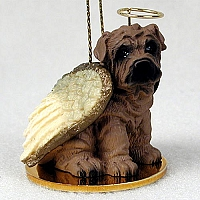Shar Pei Brown Pet Angel Ornament