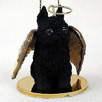 Brussels Griffon Black Pet Angel Ornament