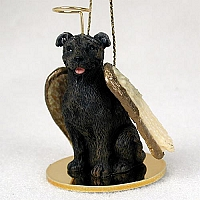 Staffordshire Bull Terrier Brindle Pet Angel Ornament