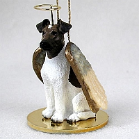 Fox Terrier Brown & White Pet Angel Ornament