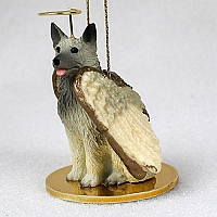 Norwegian Elkhound Pet Angel Ornament