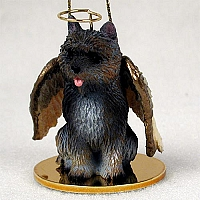 Cairn Terrier Brindle Pet Angel Ornament