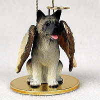Akita Gray Pet Angel Ornament