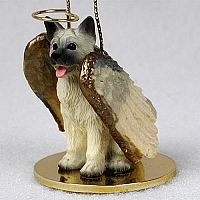 Akita Fawn Pet Angel Ornament Ornament