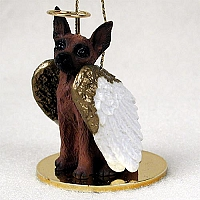 Miniature Pinscher Red & Brown Pet Angel Ornament
