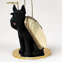 Schnauzer Giant Black Pet Angel Ornament