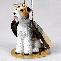 Wire Fox Terrier Red Pet Angel Ornament