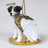 Jack Russell Terrier Brown & White w/Rough Coat Pet Angel Ornament