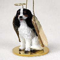 Cavalier King Charles Spaniel Black & White Pet Angel Ornament