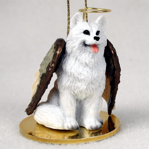 American eskimo pet angel ornament ornaments comical characters desk accessories figurines greeting cardspaper products jewelry magnets prepack displays trinket boxes assortment sales m4hsunfo