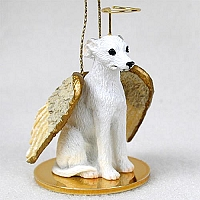Whippet White Pet Angel Ornament