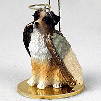 Australian Shepherd Brown w/Docked Tail Pet Angel Ornament
