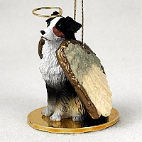 Australian Shepherd Tricolor w/Docked Tail Pet Angel Ornament
