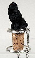 Poodle Black Bottle Stopper