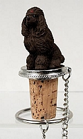 Poodle Chocolate Bottle Stopper